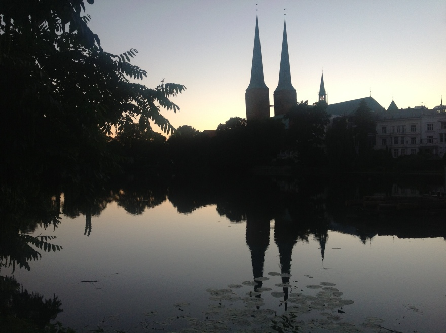 Reflection of the cathedral in our nearby pond