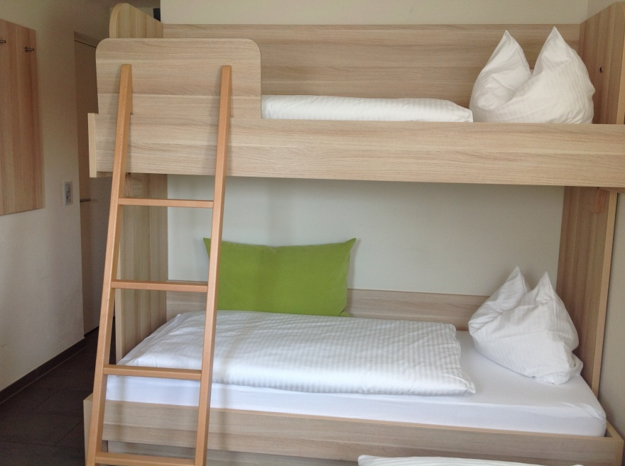 Bunk beds - not easy to find a room for three