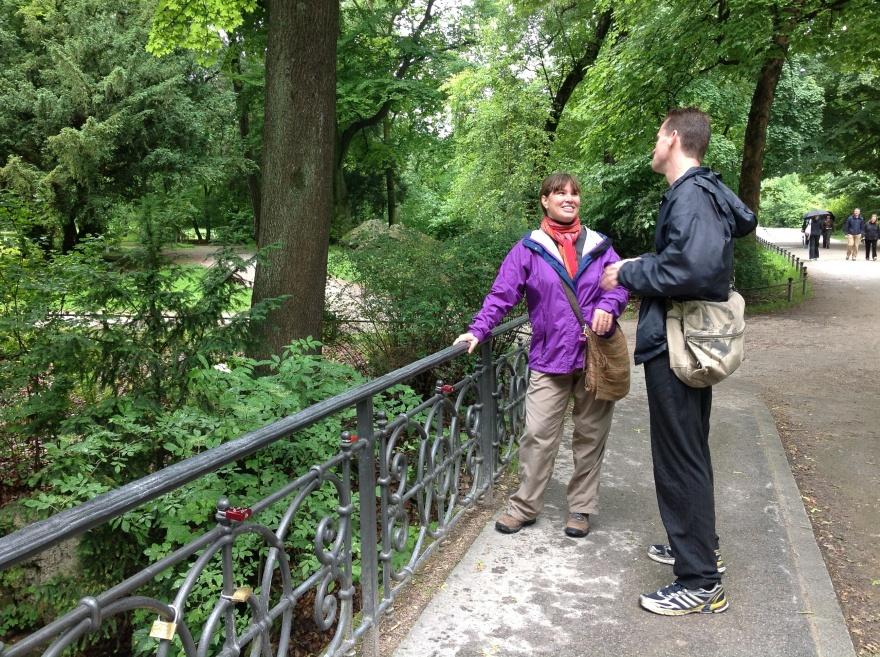 Suzi and Alex in the English Garden