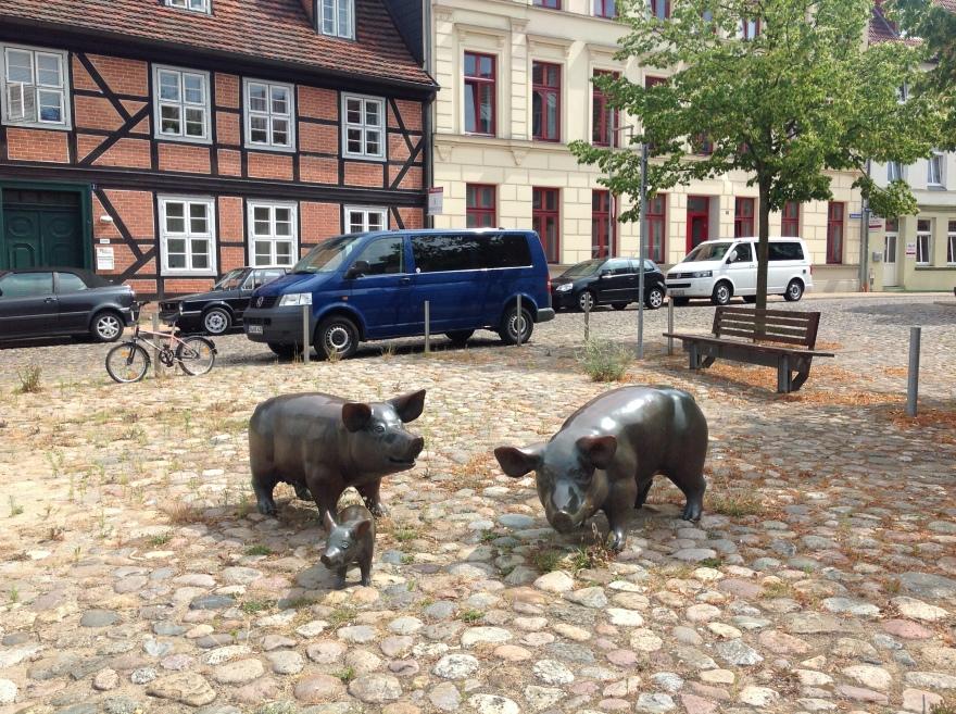 Location of former pig market