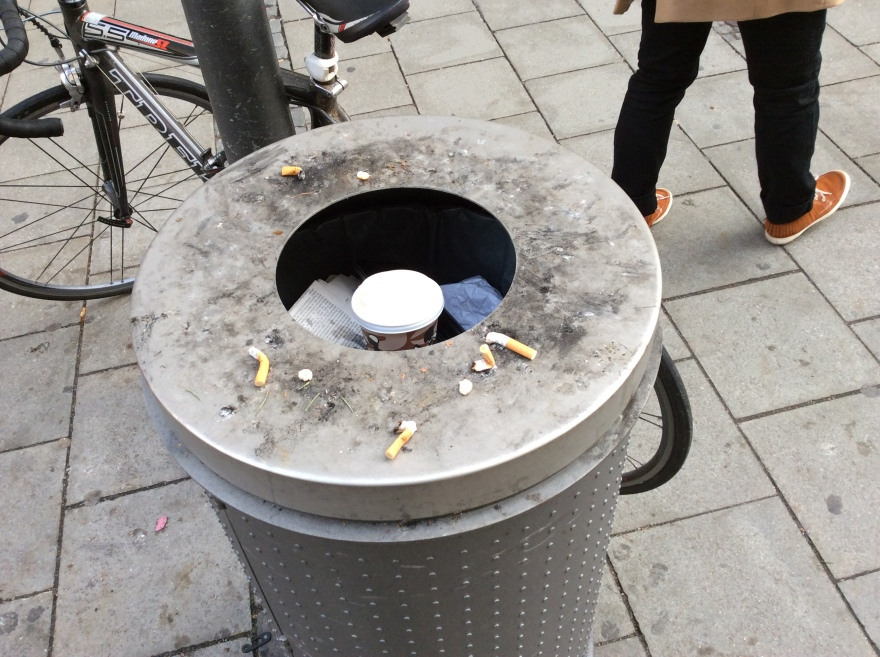 Think of a world where public ashtrays were not needed