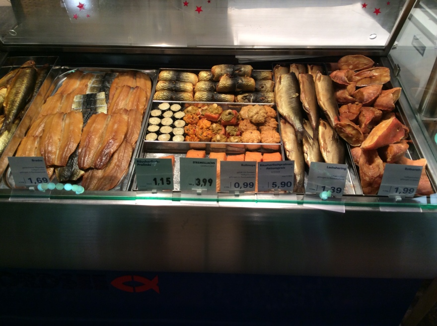 There were even more smoked fish selections. Eva would go crazy. She loves her smoked fish.