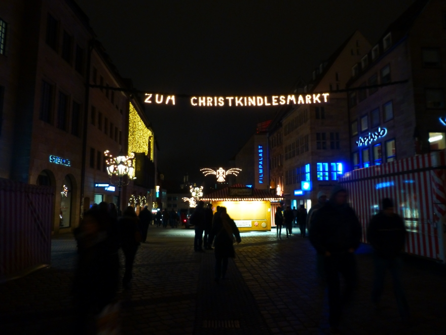 Direction to the Christmas Market in Nürnberg