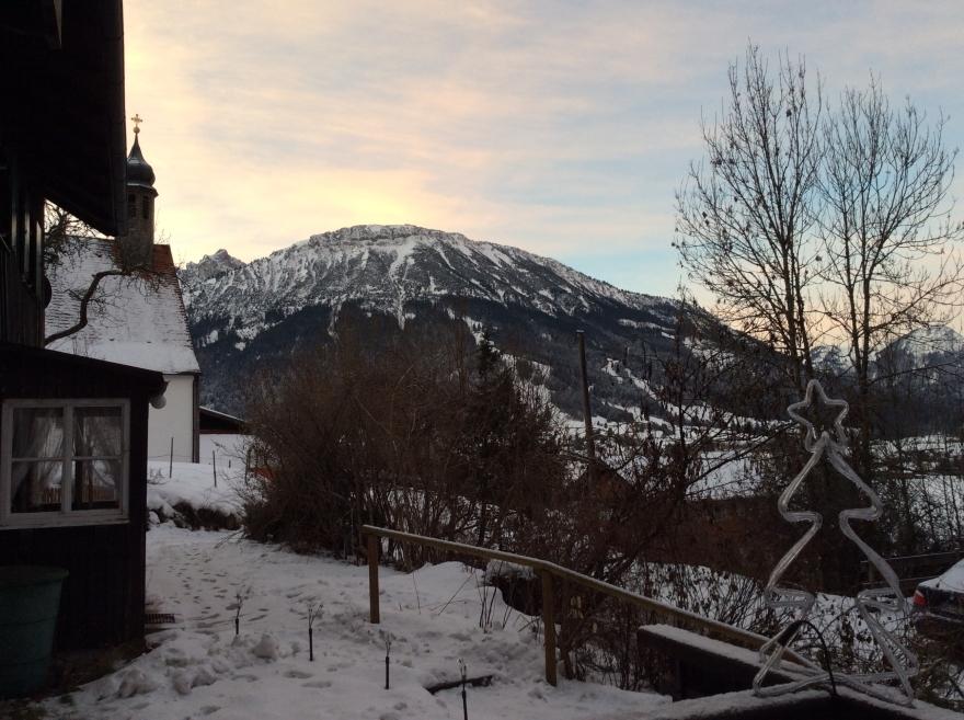 Sunrise over the peaks