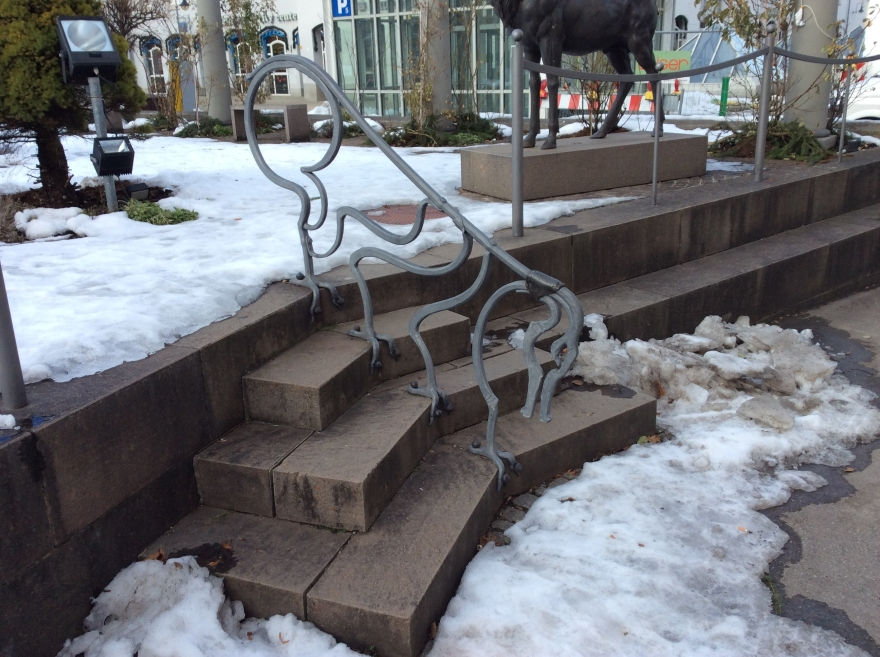 A beastly handrail