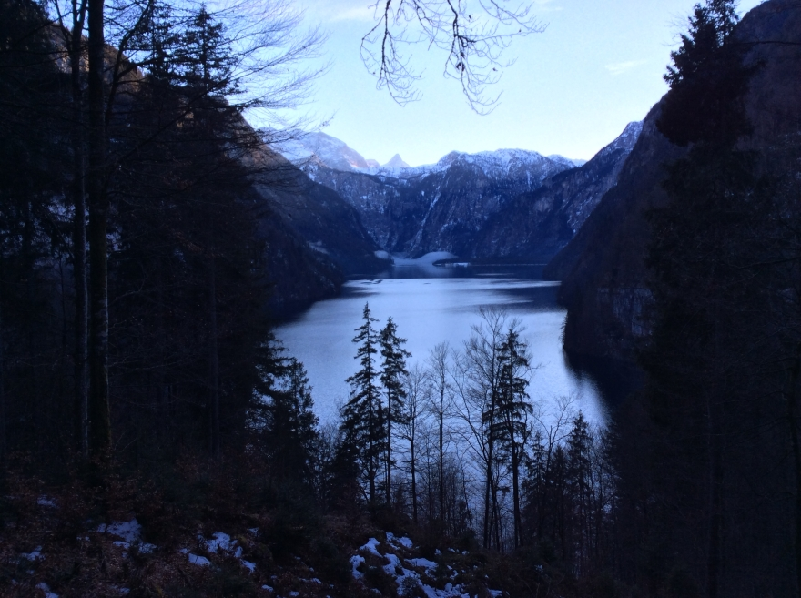 Fine view of the Königsee at sunset