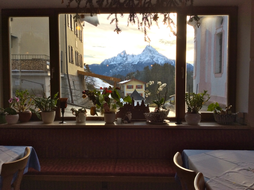 View from our table onto the Watzmann.