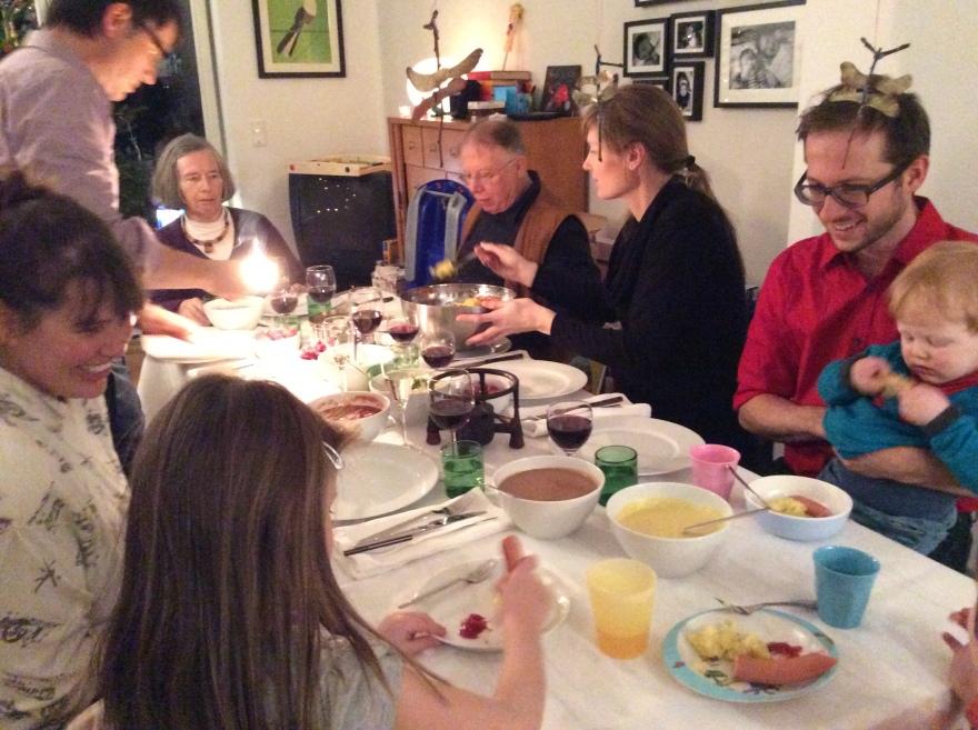 Family gathering on Christmas Eve