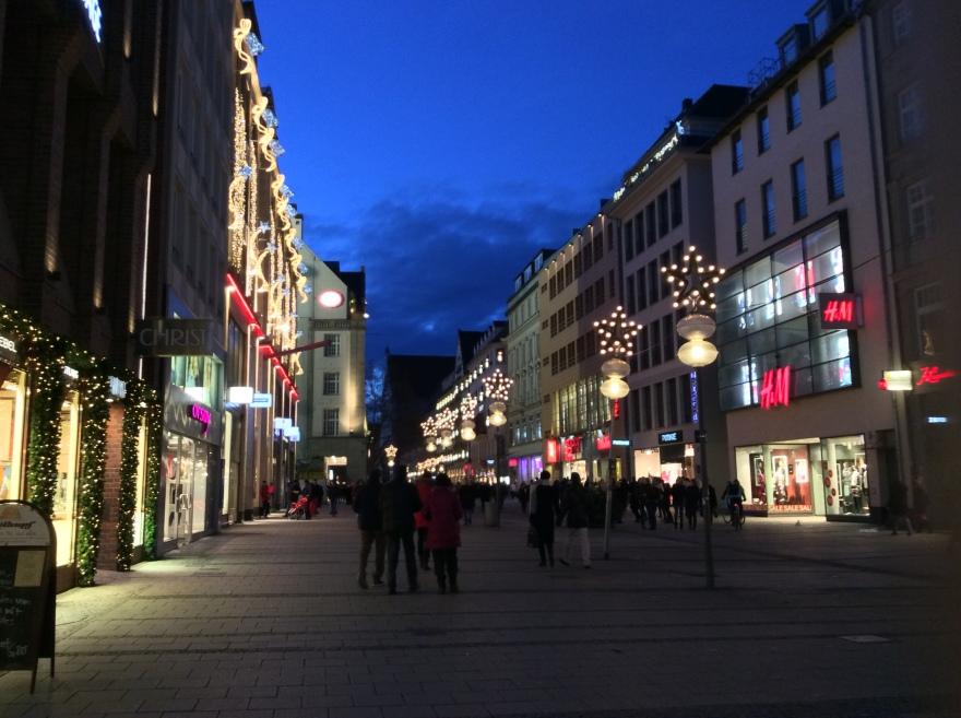 A festive street scene