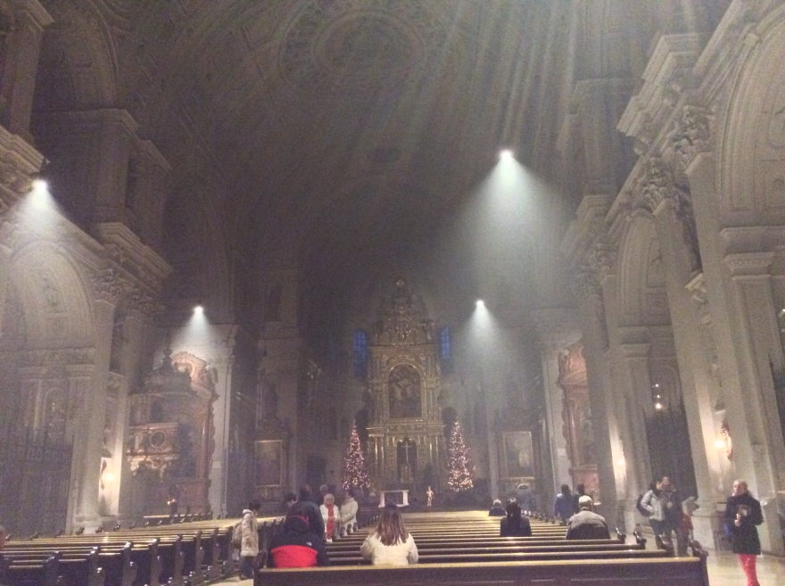 A church filled with the odor and smoke from a day of incense burning