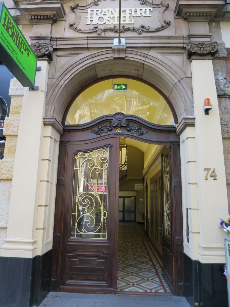 Entry to the hostel