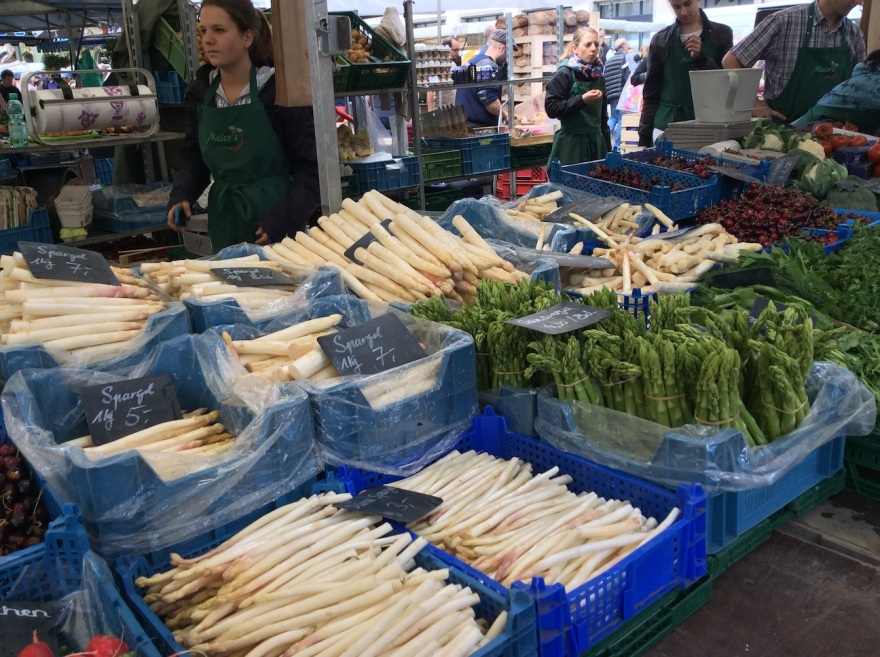 White asparagus is favored  throughout Germany.