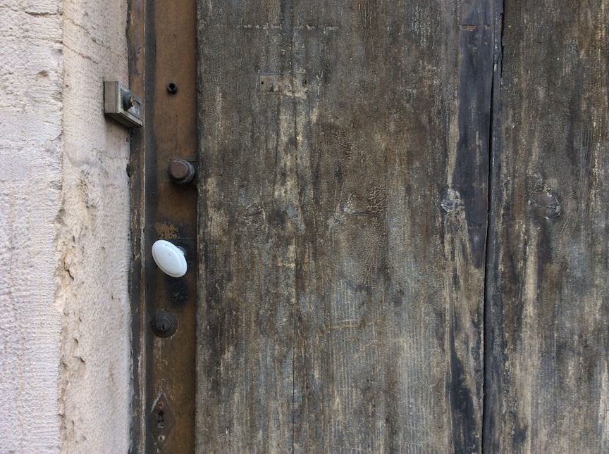 Unloved door, in use.