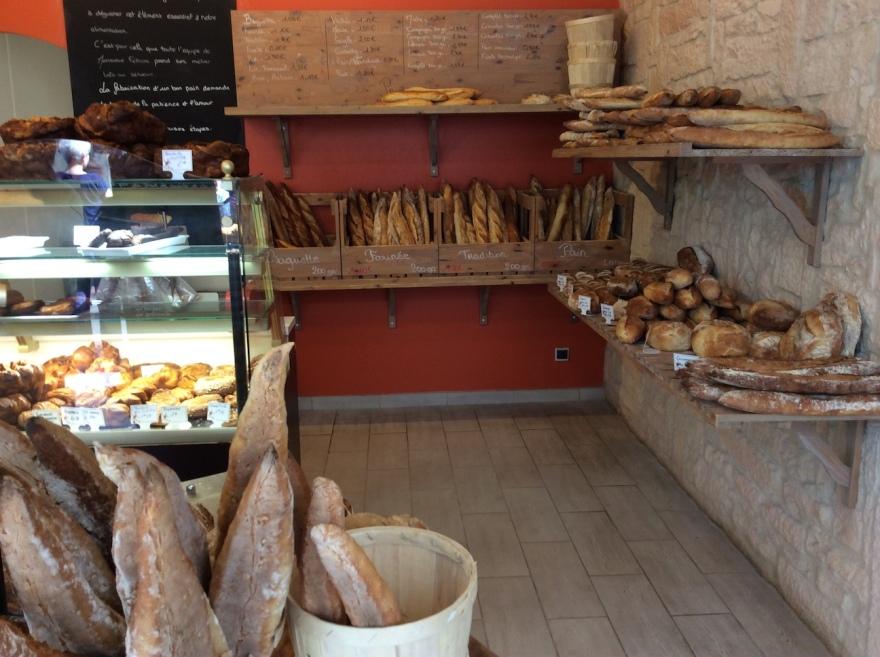A typical Dijon boulangerie