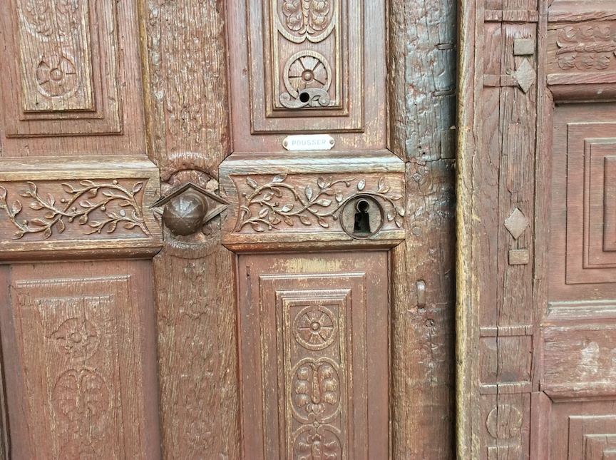 A right fancy door....once upon a time.