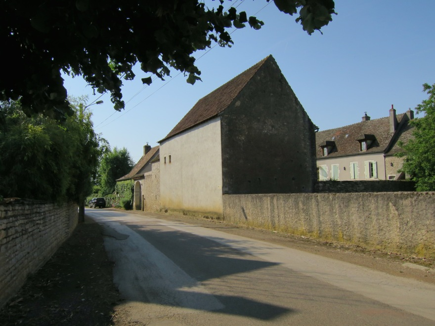 Burgundian style stone buildings and walls