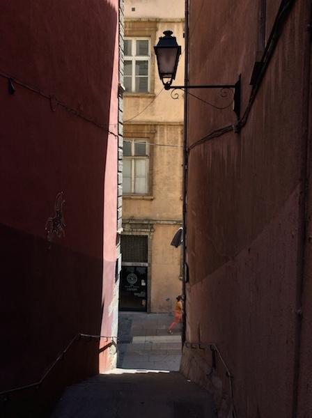 We squeeze through narrow passageways.