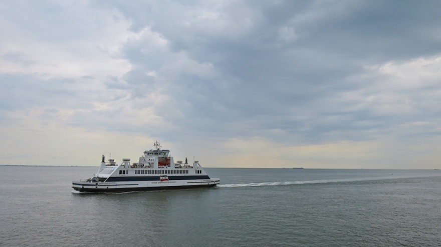 Ferry Plying the Wattenmeer