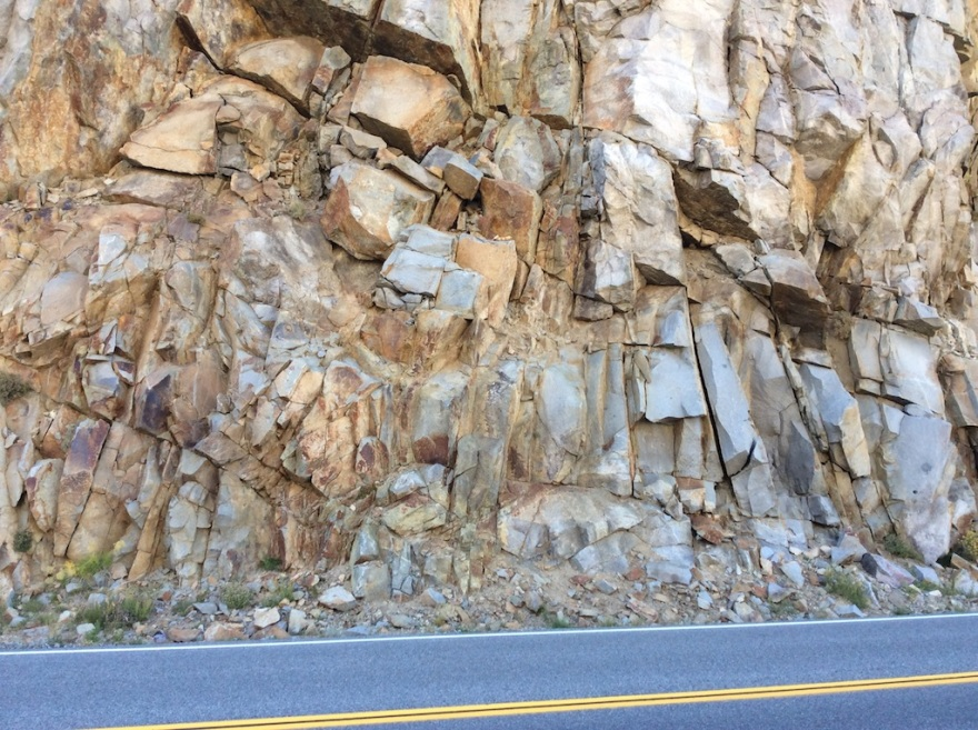 Road carved out of igneous rock