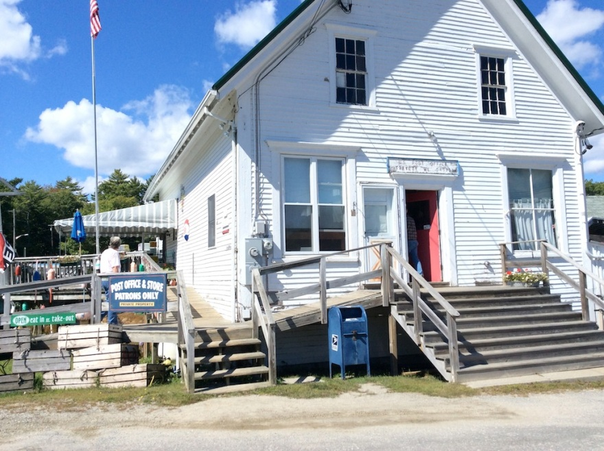 Post office and tiny restaurant