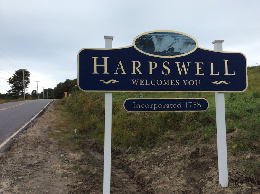 City limits of Harpswell, founded in 1758