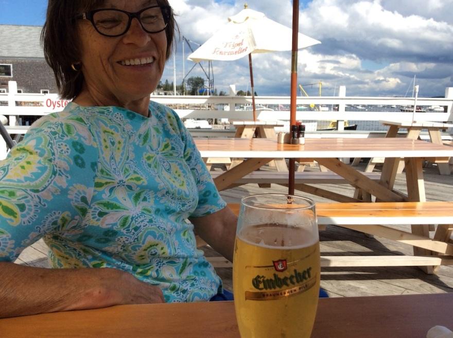 Eva discovers a German draft beer