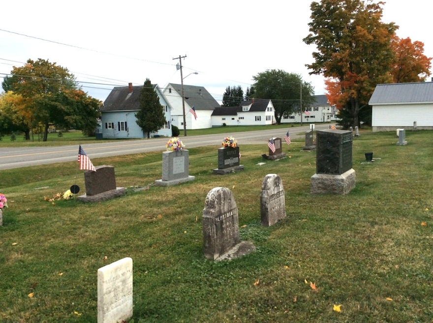 Lots of flags in the grave yards
