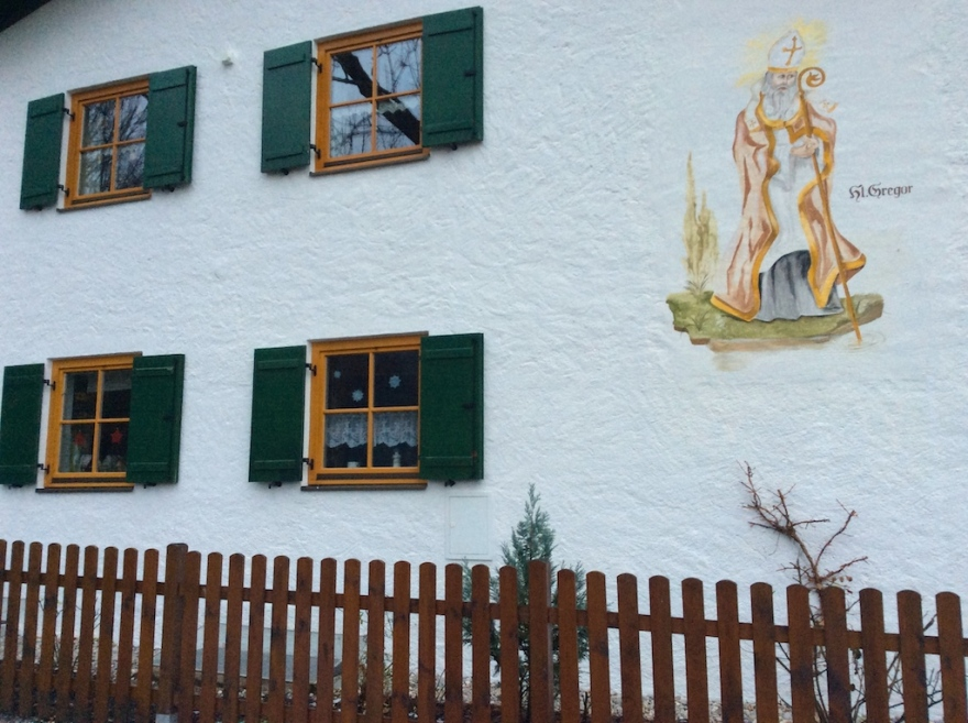 St. Gregory protects local house from flooding.