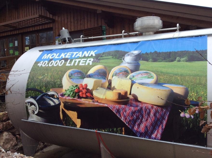 Tank where fresh milk is stored.