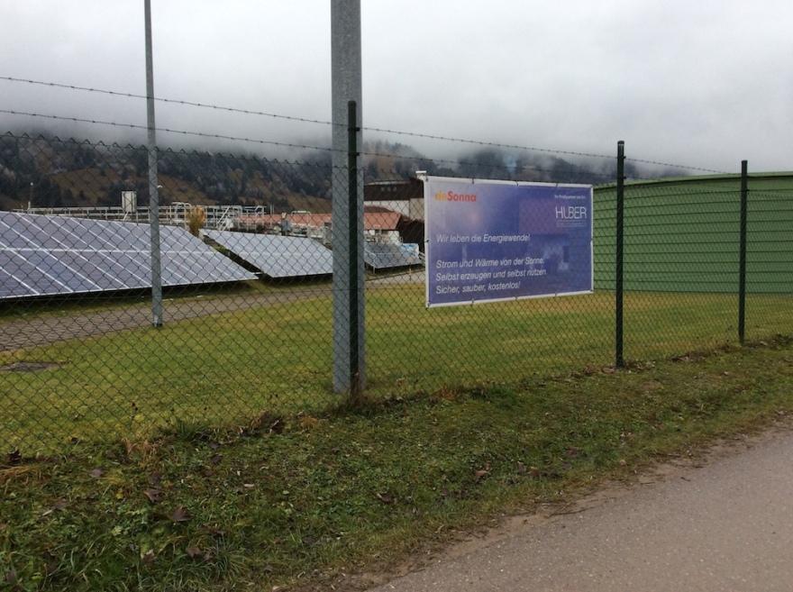 City solar panels