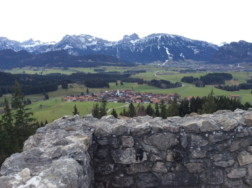 View from the first castle