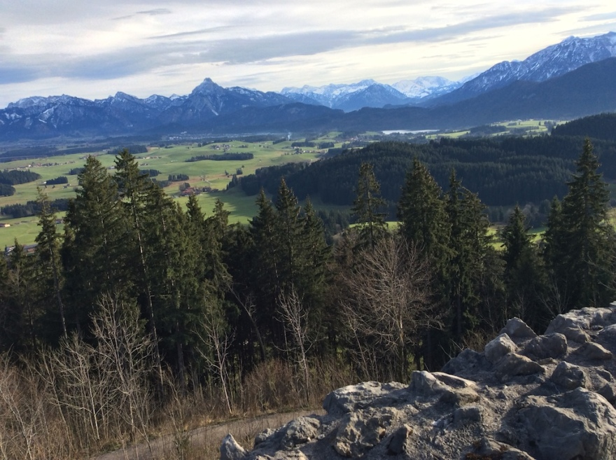 View over the Allgäu Alps