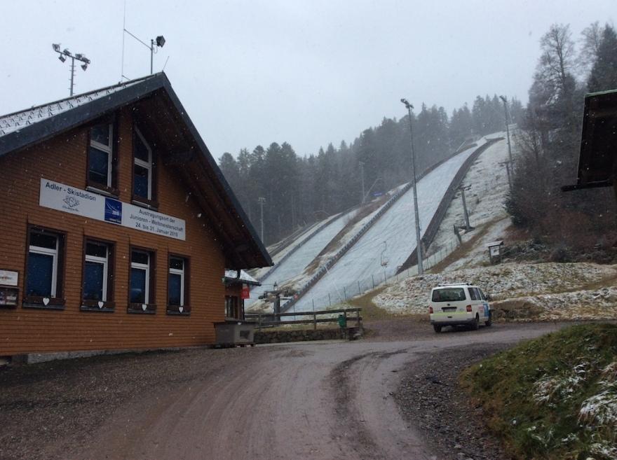 We passed the ski jump.