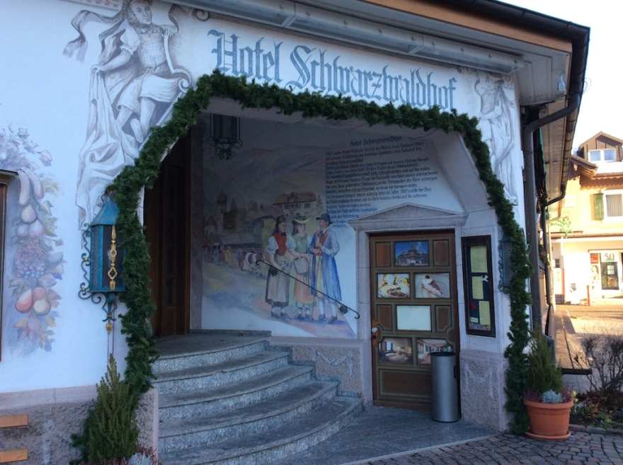Hotel entry traditionally decorated