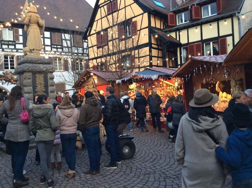 Eguisheim Christmas market, spread out over several ancient plazas