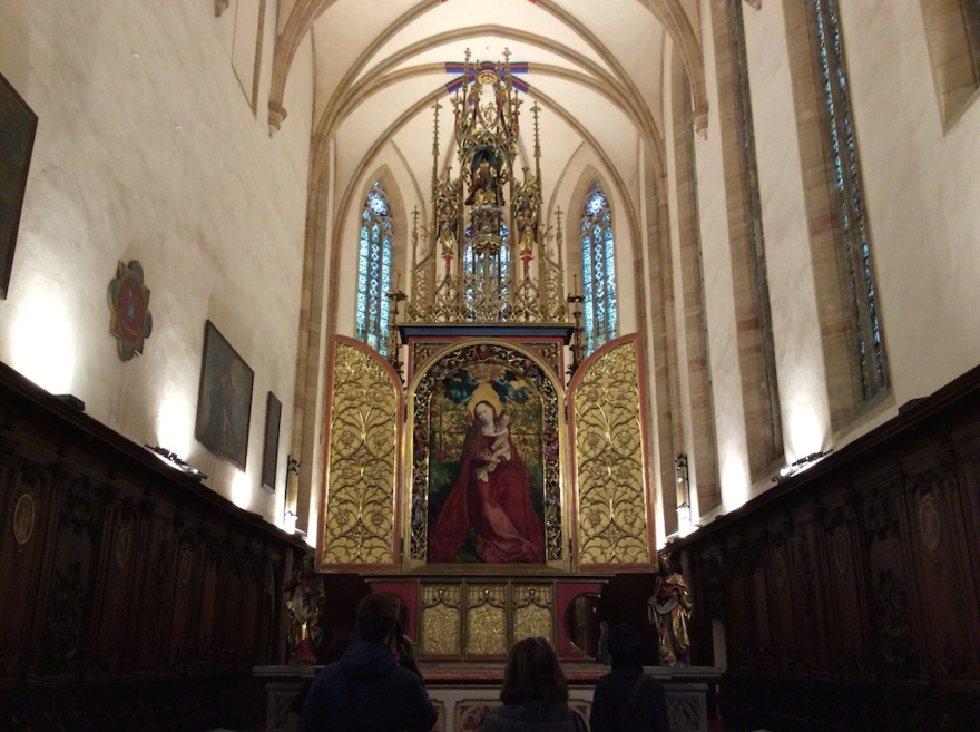 The present altarpiece setting