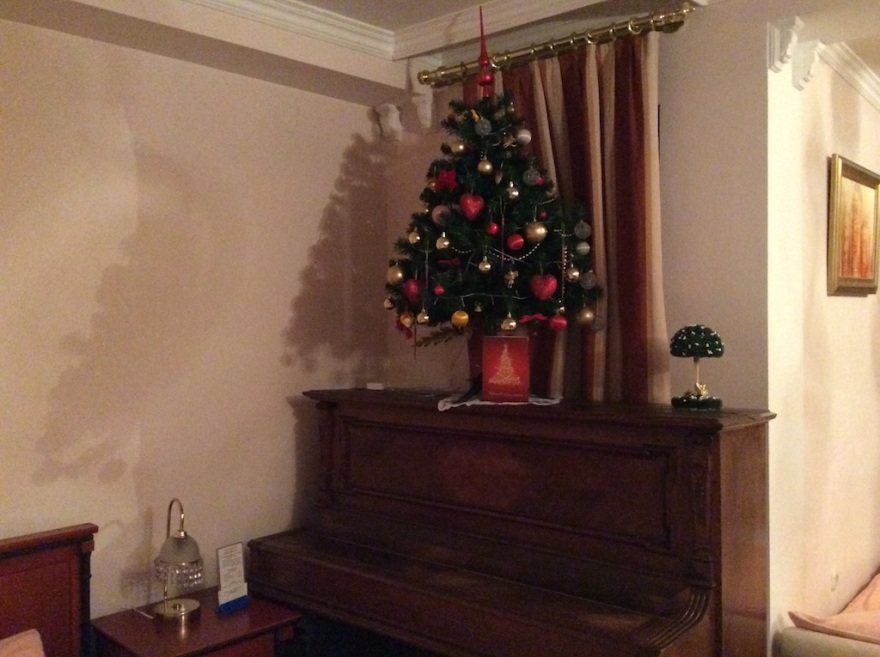 Tree on top of piano