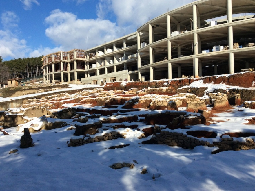 New construction displaces ancient archaeological site.