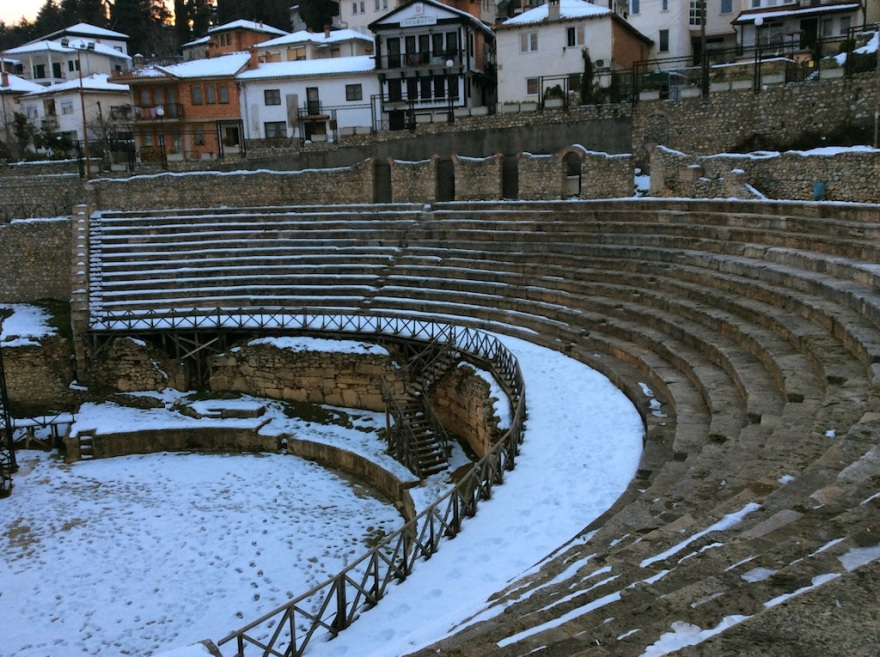Recently discovered Greek amphitheater