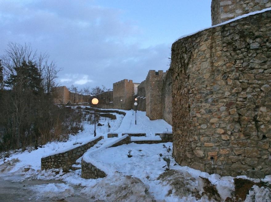 We reach the citadel at dusk.