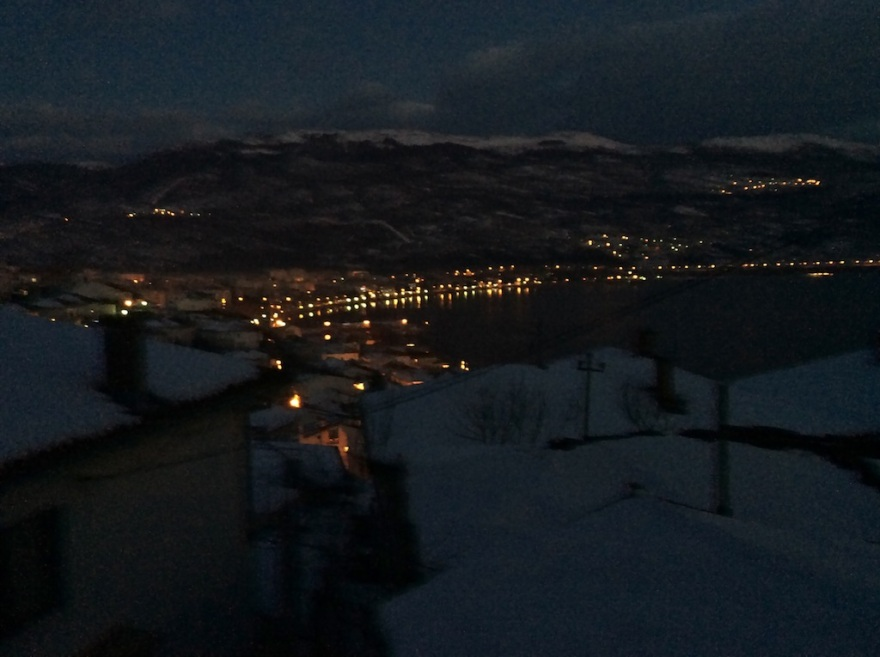 Lights of Ohrid over the lake