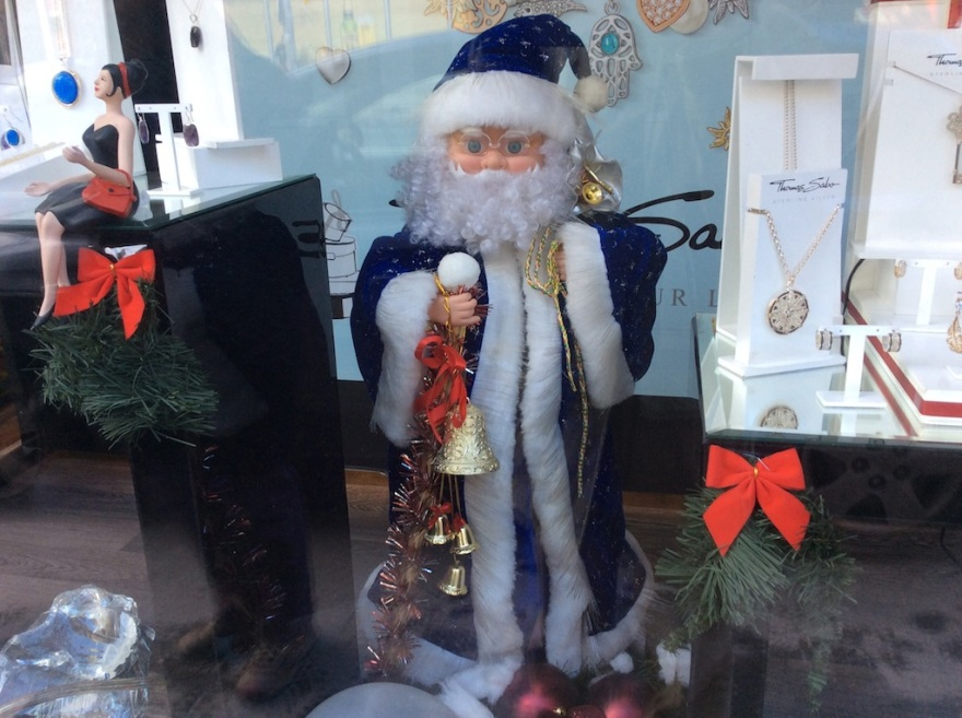 Here's a nice Santa in the window.