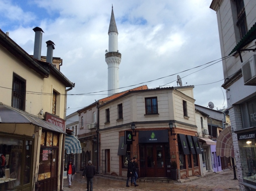 Small shops and mosques in the Ottoman quarter