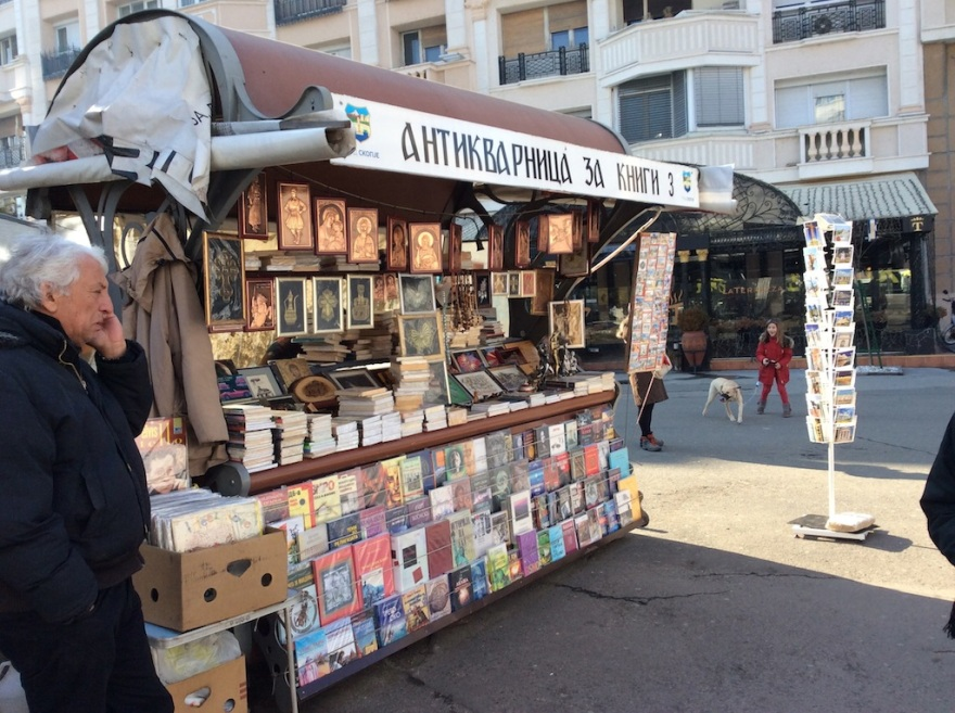 Vendor of religious items