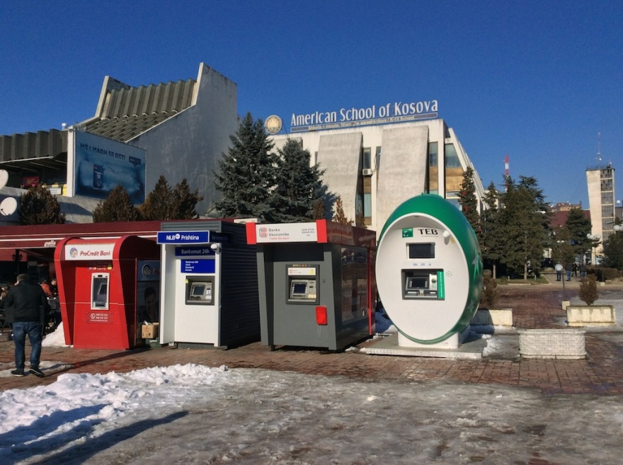 Four stand-alone ATM machines