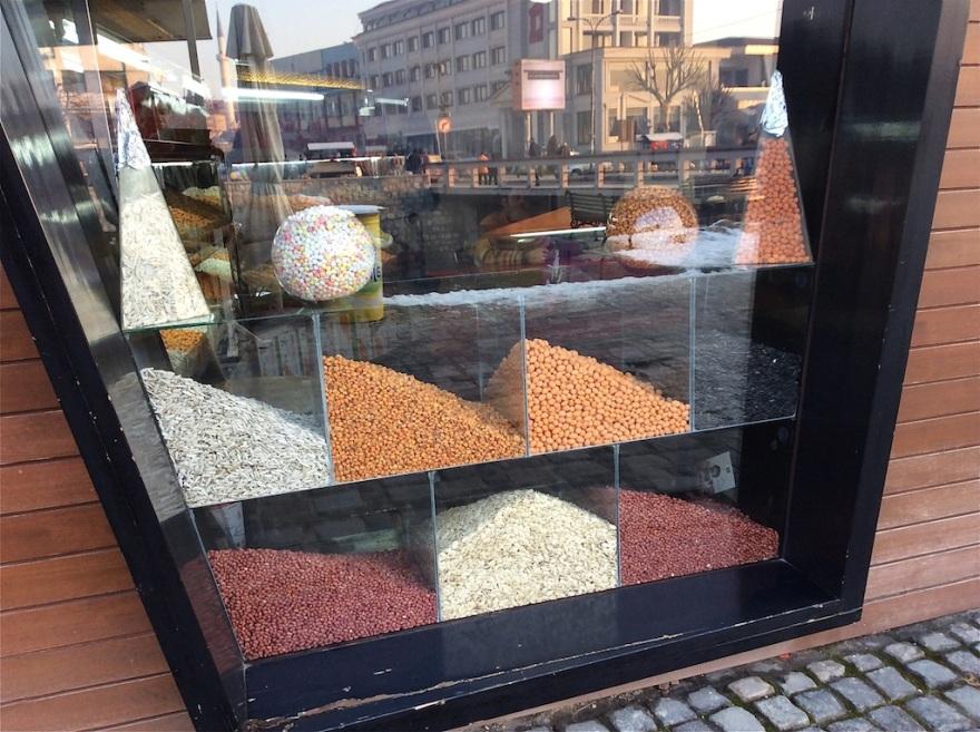 Nuts nicely displayed