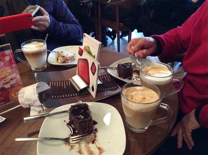 We find yummy treats and good coffee.