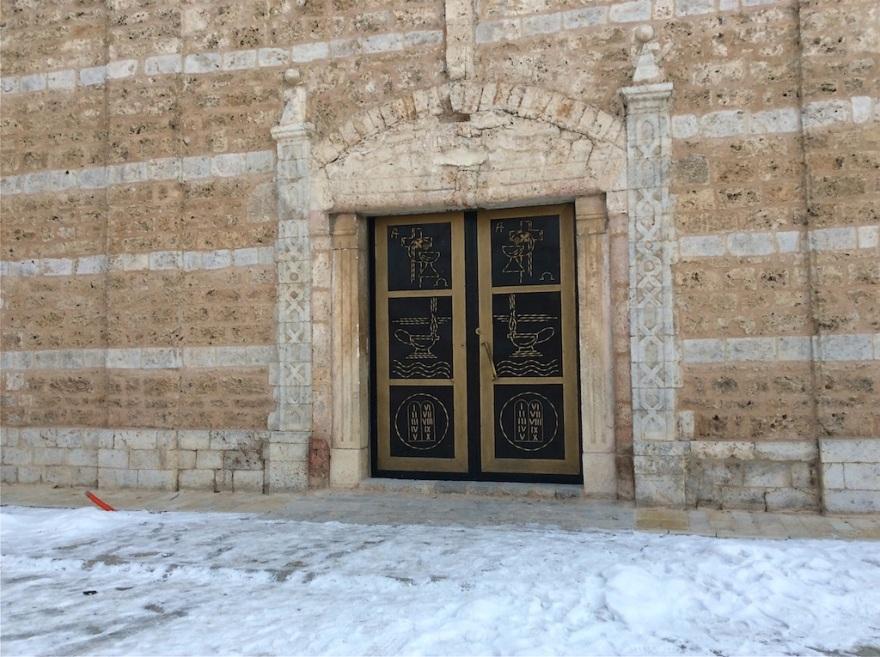 Attractive doors, locked