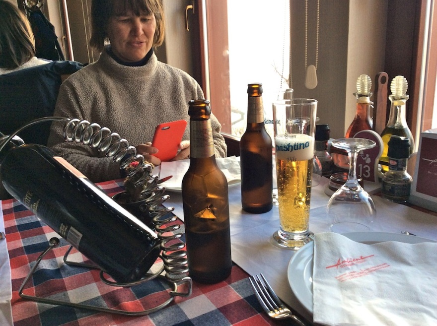 Beer is always good with Balkan food.