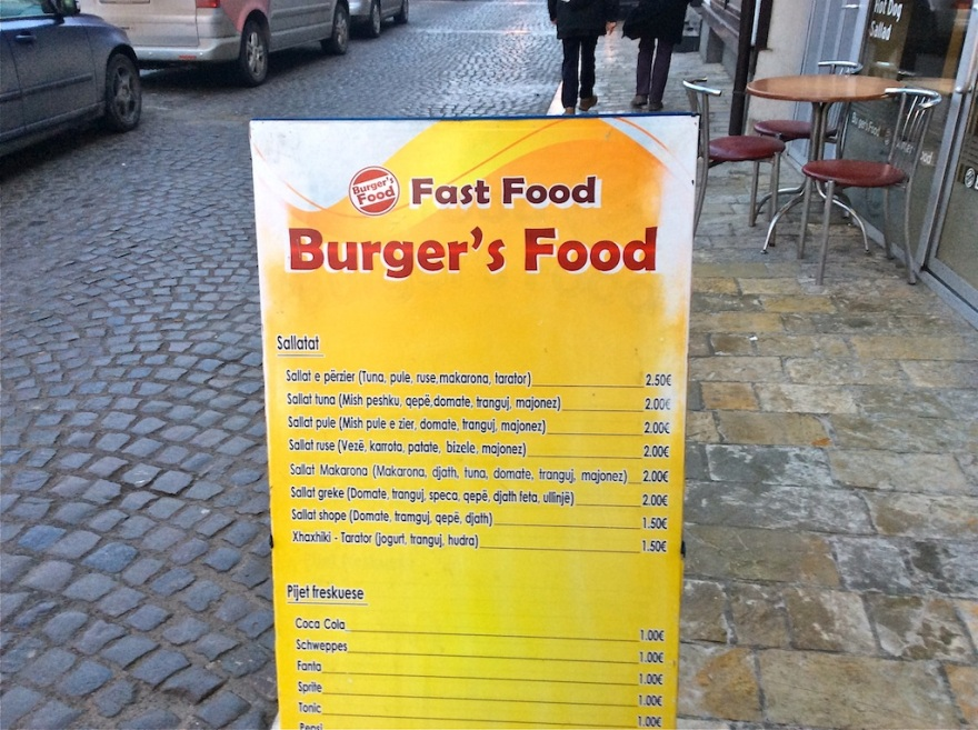 One of many fast food places